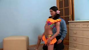 La danseuse étoile obtient un peu d'aide de pénis